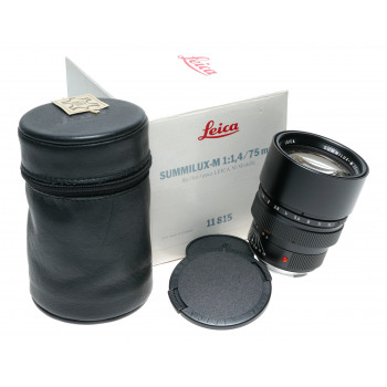 Leica Summilux-M 75mm f1.4 11815 E60 Rare 1.4/75 LNIB lens