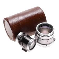 Robot rangefinder camera lens TEWE viewfinder kit f=75mm Tele-Xenar 1:4/75 cased