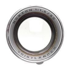 Voigtlander Nokton 1:1.5/50mm Coated vintage film camera lens f=50mm