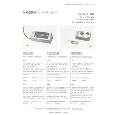 Nagra kudelski atn par regulator power supply iv and 4.2