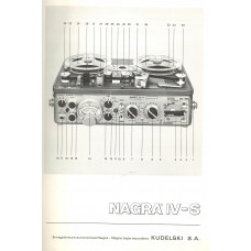 Nagra iv-s instruction user manual sound recorder kudelski