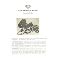 Arriflex 16 synchronous motor instructions for use