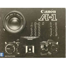 Canon a-1 slr camera instructions for use manual