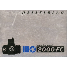 Hasselblad 2000fc camera instruction manual 27 pages