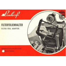 Linhof camera filter foil adapter instructions manual