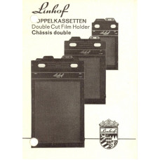 Linhof double cut film holder dopplekassetten manual
