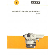 Zeiss instructions for operating and adjustment ni 3 k