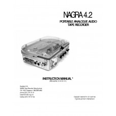 Nagra 4.2 instruction manual analogue tape recorder